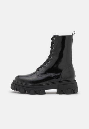 DEMINI - Šněrovací kotníkové boty - noir