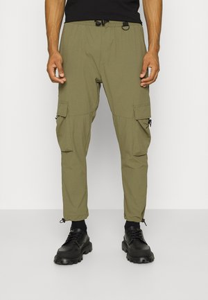 SHELL UTILITY PANTS UNISEX - Cargo trousers - khaki