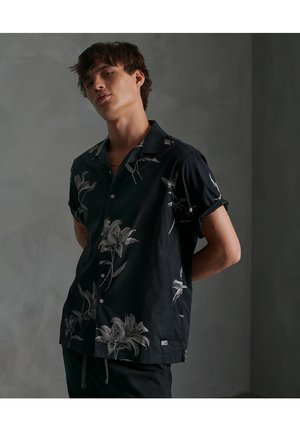 HAWAIIAN BOX - Shirt - black