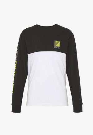 RETRO SPORT COLORBLOCK - Long sleeved top - white/black