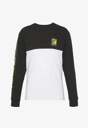 RETRO SPORT COLORBLOCK - Bluzka z długim rękawem - white/black
