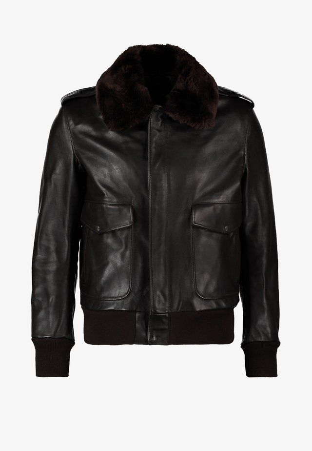 184 SM - Veste en cuir - brown
