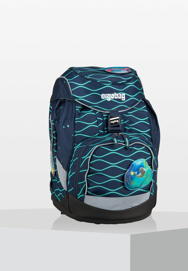 School bag - mottled turquoise