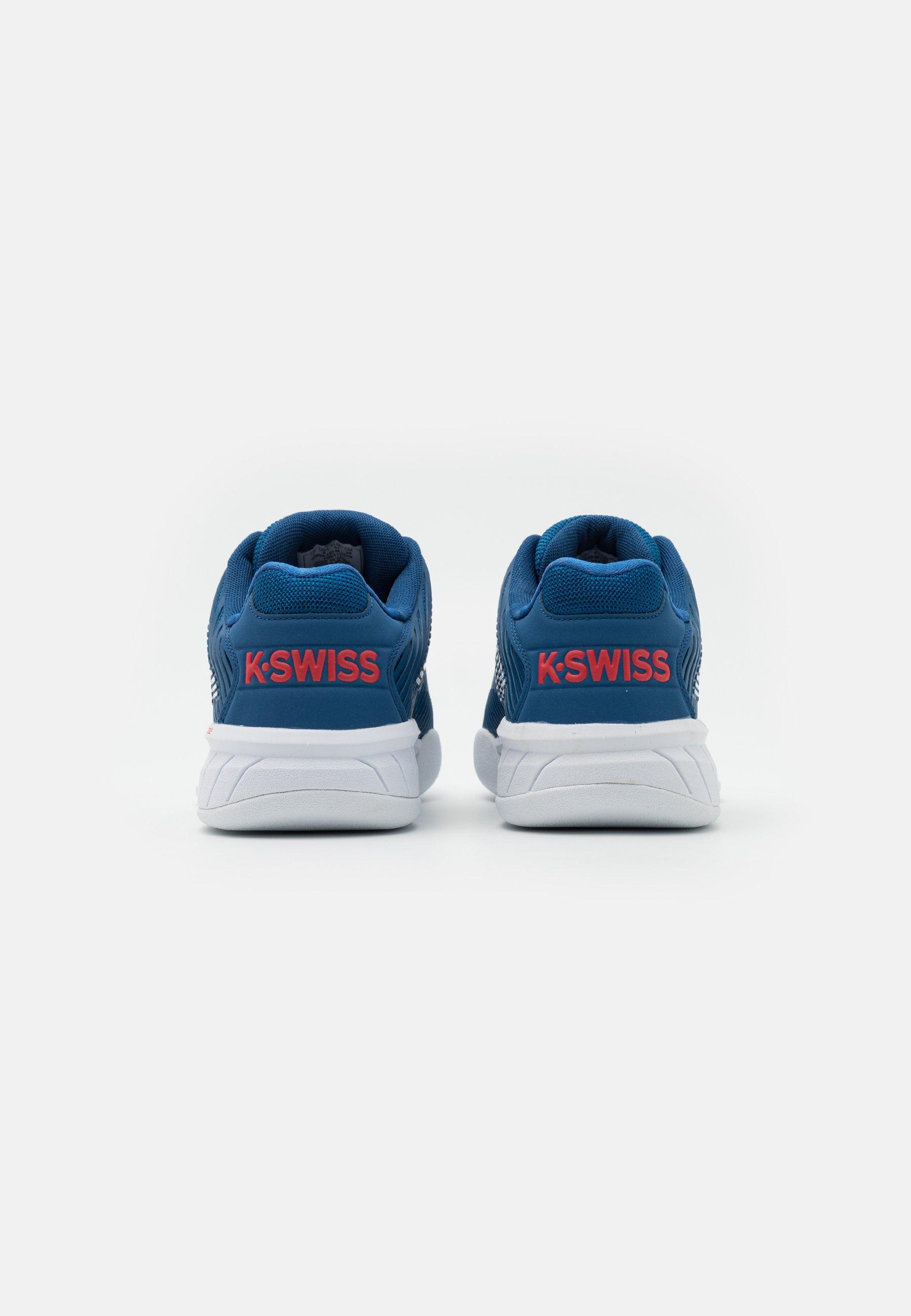 K-SWISS HYPERCOURT EXPRESS CARPET - Tennisschuh für Teppichböden - dark blue/white/bittersweet/dunkelblau - Herrenschuhe topQl