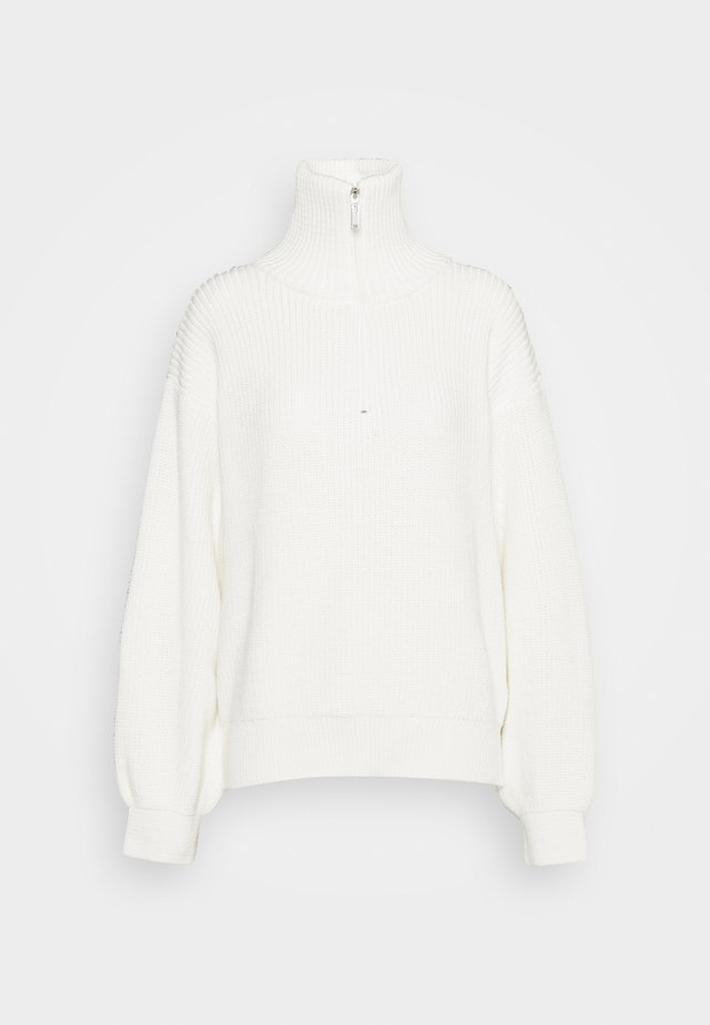 HALF ZIP UP - Strikkegenser - white