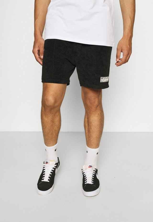 TCC X ELLESSE MENS TOWELLED PIN TUCK RELAXED FIT  - Shorts - black