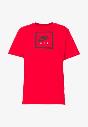 M NSW SS TEE AIR 2 - T-shirt med print - university red/black