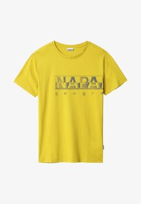 Napapijri - SALLAR LOGO - Print T-shirt - yellow moss - 3
