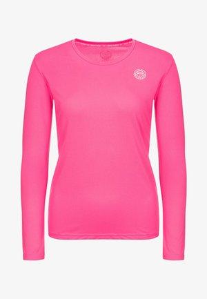 PIA TECH ROUNDNECK LONGSLEEVE - Long sleeved top - pink