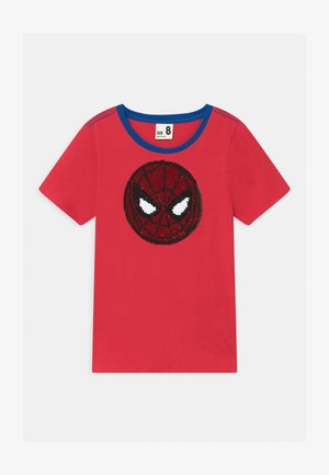 MARVEL SPIDERMAN SHORT SLEEVE LICENSE - T-shirt med print - lucky red