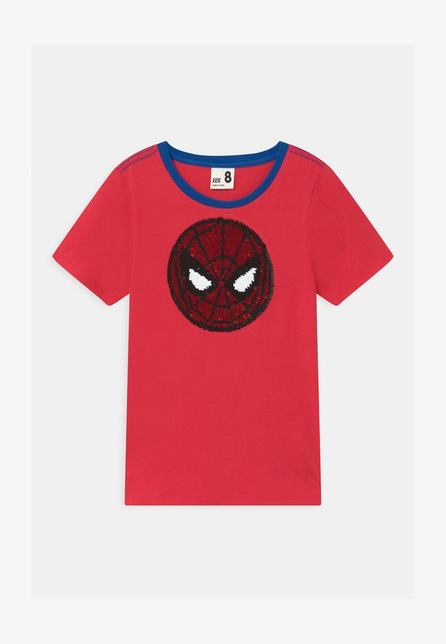 MARVEL SPIDERMAN SHORT SLEEVE LICENSE - Printtipaita - lucky red