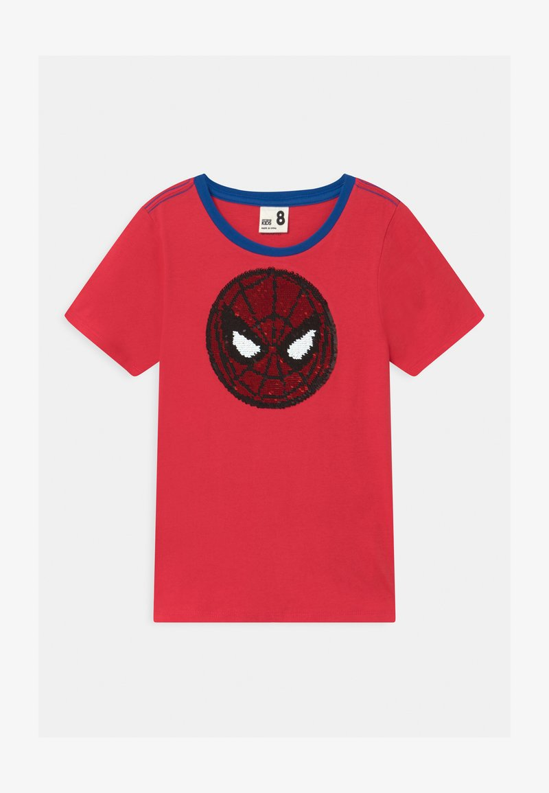 Cotton On - MARVEL SPIDERMAN SHORT SLEEVE LICENSE - Print T-shirt - lucky red