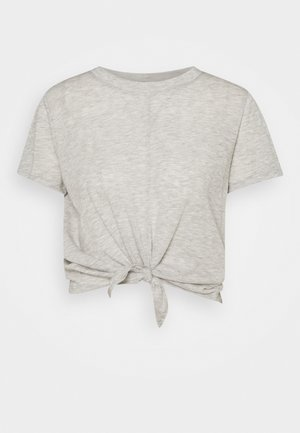 LIFESTYLE TIE UP - T-shirts med print - grey marle