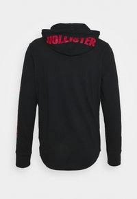 Hollister Co. - SNIT HOOD  - Long sleeved top - black - 7