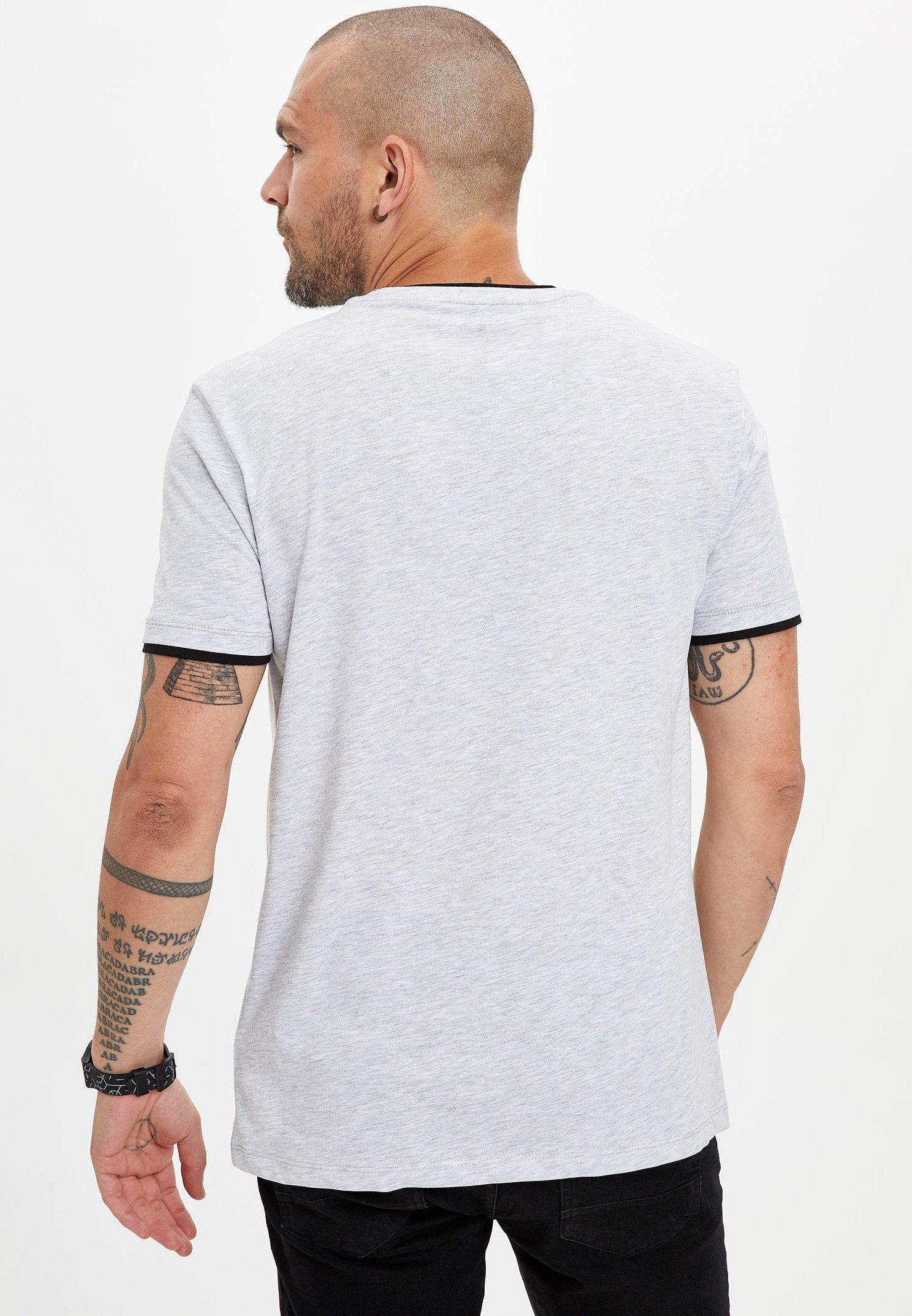 DeFacto Print T-shirt - grey clUor