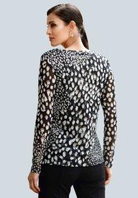 Alba Moda - Long sleeved top - schwarz,weiß,taupe - 2