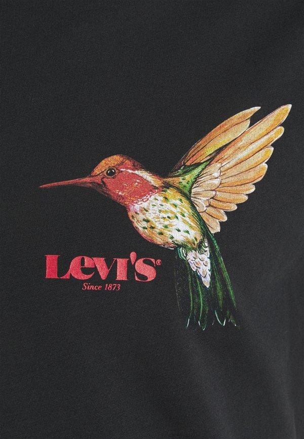 Levi's® GRAPHIC CREWNECK TEE UNISEX - T-shirt z nadrukiem - blacks/czarny Odzież Męska KRZL
