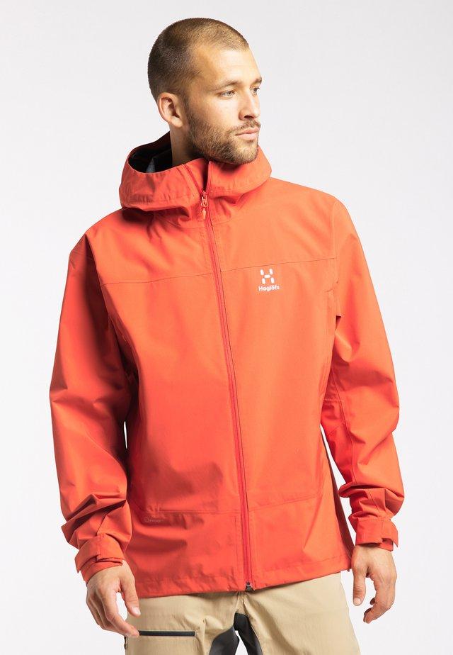HARDSHELLJACKE SPATE - Outdoor jacket - habanero