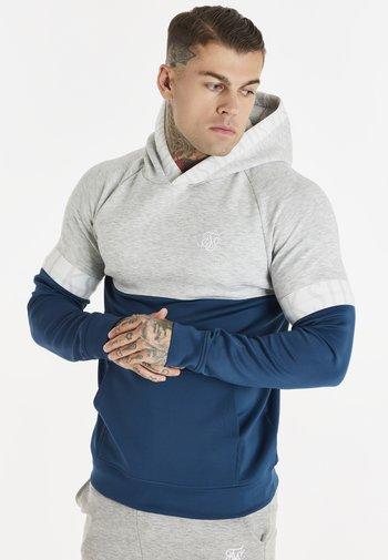 DYNAMIC FUNCTION OVERHEAD HOODIE - Sweater - snow marl/navy
