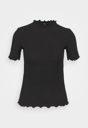 ONLEMMA HIGHNECK TOP  - T-shirt con stampa - black