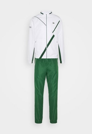 TENNIS TRACKSUIT HOODED - Træningssæt - white/green
