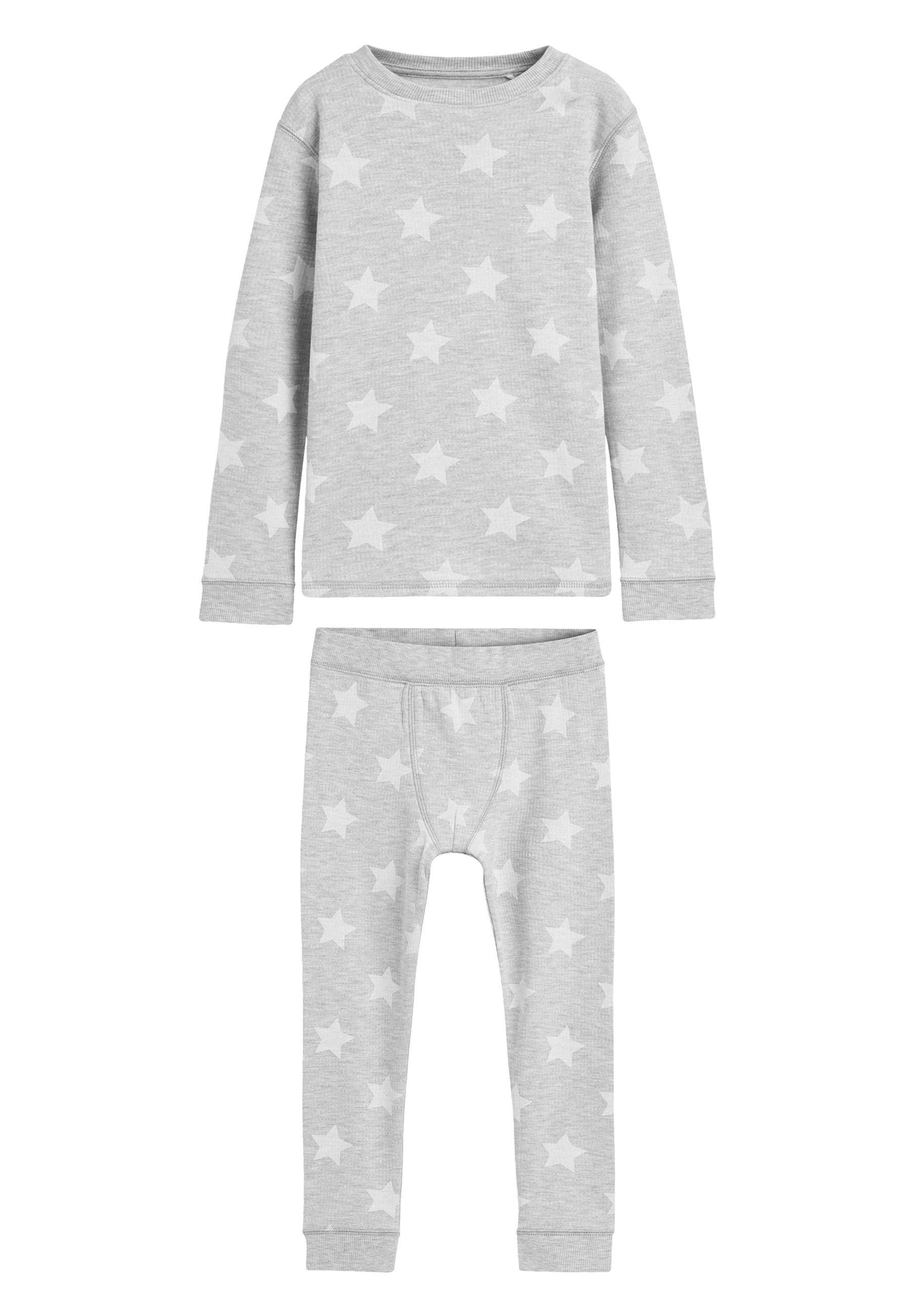Kinder GREY STAR PRINTED SNUGGLE THERMAL SET (1.5-16YRS) - Nachtwäsche Set
