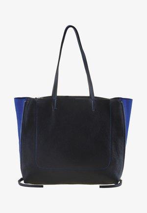 RHODES - Tote bag - black/blue