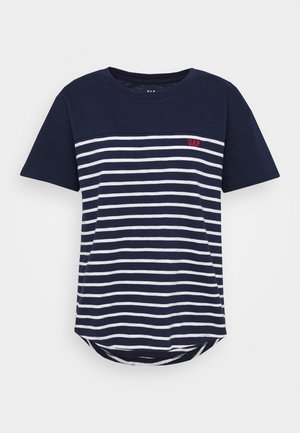 MEMORIAL DAY TEE - T-shirt con stampa - navy/white