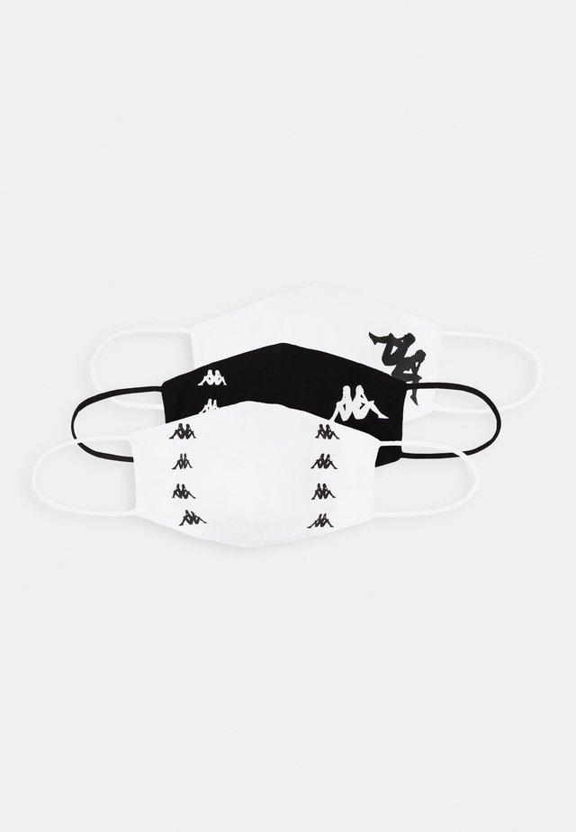 ZAFE 3 PACK - Stoffen mondkapje - white/black