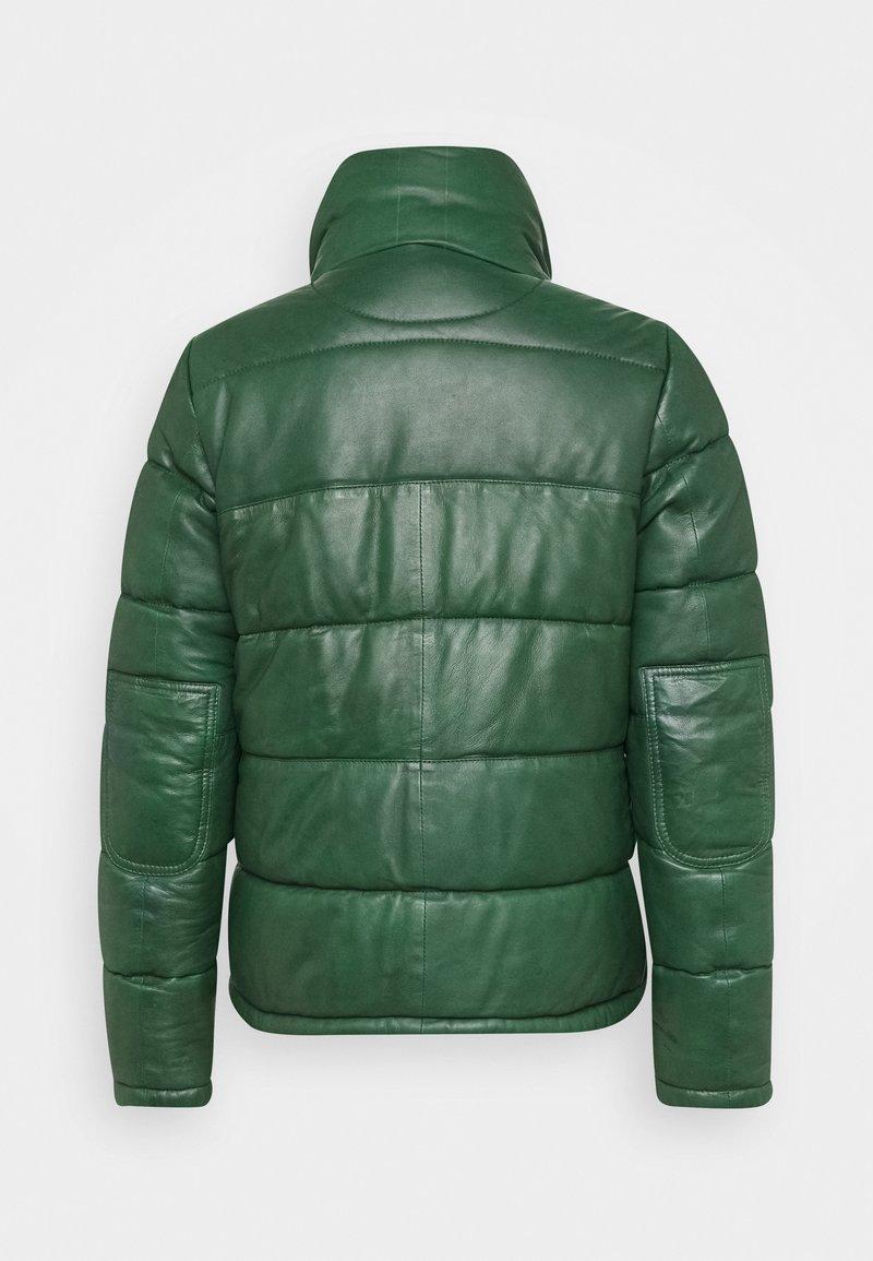 Oakwood DOLLY - Lederjacke - dark green/dunkelgrün OYgqVZ
