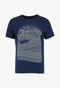Pier One - T-shirt imprimé - dark blue/white - 4