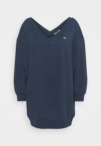 Tommy Jeans Curve - TJW V-NECK SWEAT DRESS - Robe d'été - twilight navy - 3