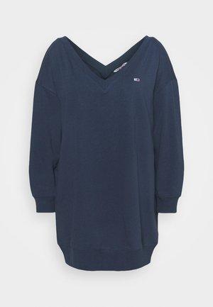 TJW V-NECK SWEAT DRESS - Kjole - twilight navy