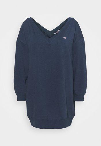 TJW V-NECK SWEAT DRESS - Day dress - twilight navy