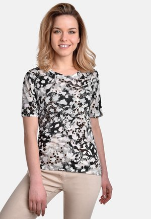T-shirt med print - black-sand