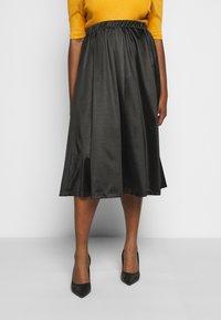 Vero Moda Curve - VMNIMI MIDI SKIRT - A-line skirt - black - 0