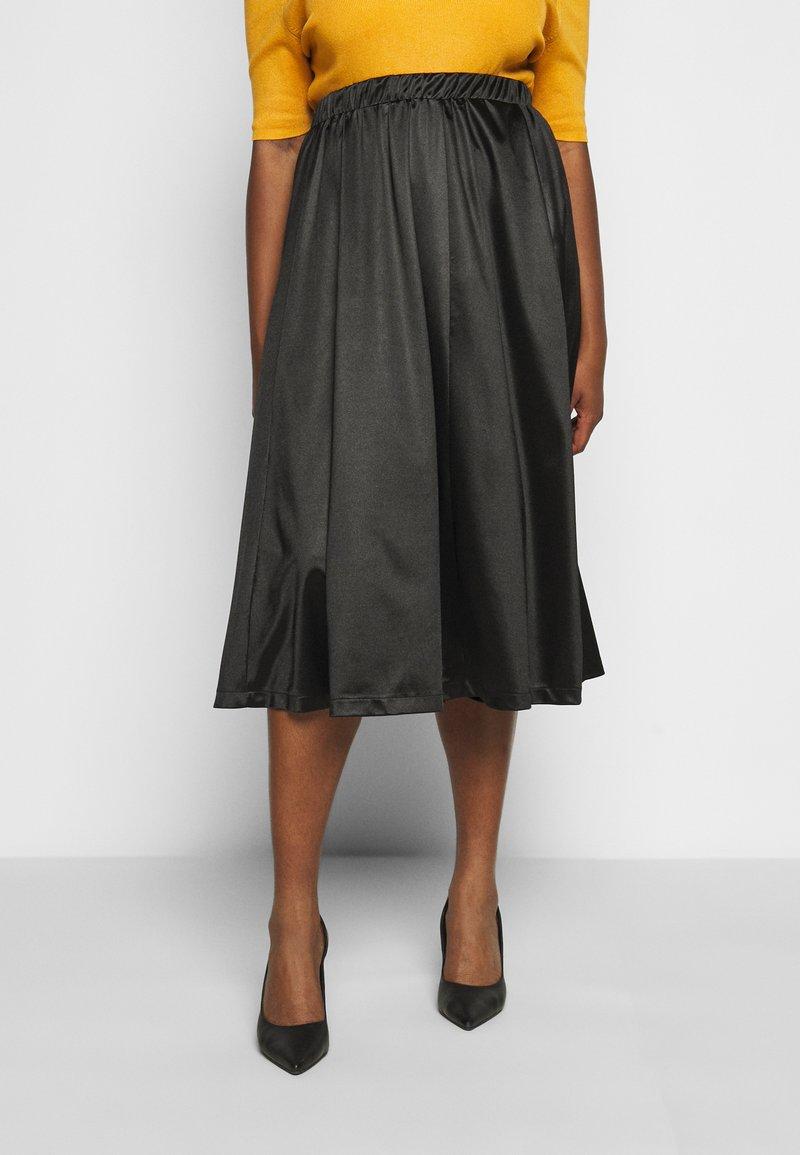 Vero Moda Curve - VMNIMI MIDI SKIRT - A-line skirt - black
