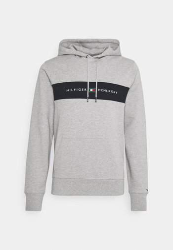 NEW LOGO HOODY - Sweatshirt - medium grey heather