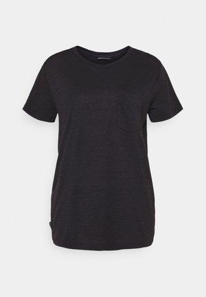 NATURE DYE DRAYDEN POCKET CREW - Basic T-shirt - tannin