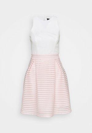 Cocktail dress / Party dress - peach blush/ivory