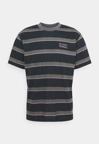 Afends - FIGHT STRIPE RETRO FIT TEE UNISEX - Print T-shirt - black - 0