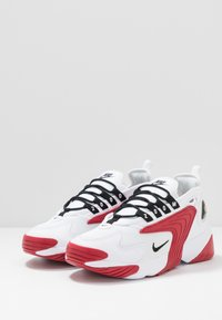 Nike Sportswear - ZOOM  - Sneakers - white/black/gym red - 2