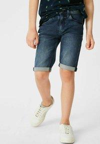 C&A - Denim shorts - denimblue - 0