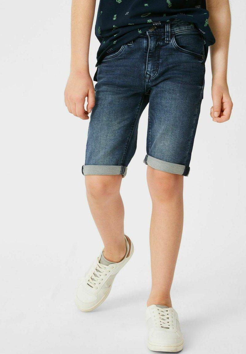 C&A - Denim shorts - denimblue