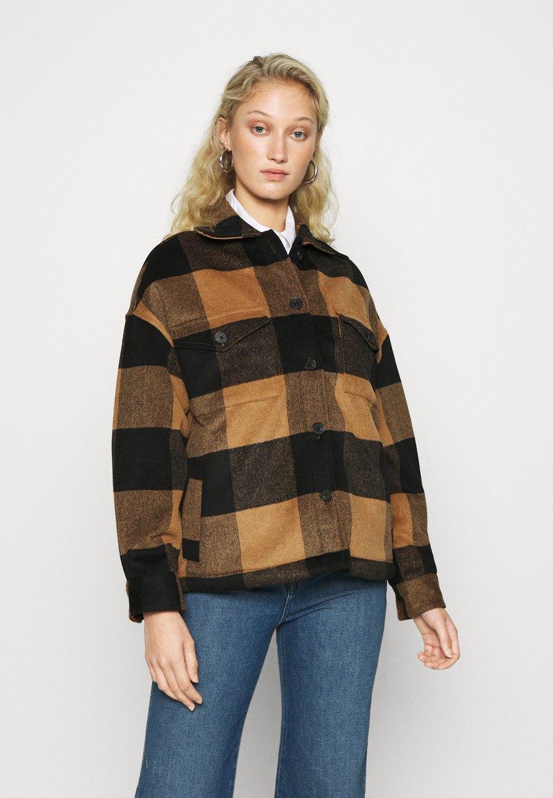 AllSaints - LUELLA CHECK JACKET - Light jacket - brown/black