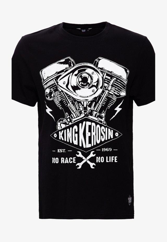 BIKERSTYLE NO RACE NO LIFE - T-shirt imprimé - black