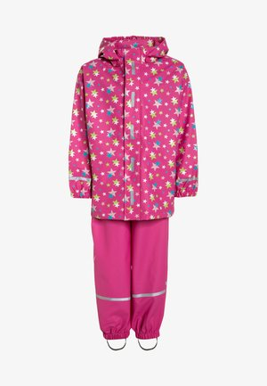 REGENANZUG STERNE ALLOVER SET  - Waterproof jacket - pink
