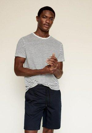 RAYURES - Print T-shirt - bleu marine foncé