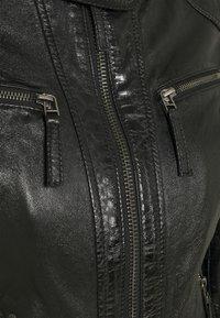 Oakwood - HOLA - Leather jacket - black - 2