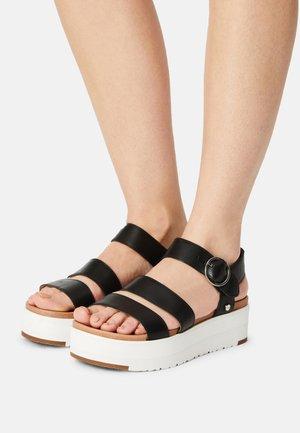 LEEDAH - Sandalen met plateauzool - black